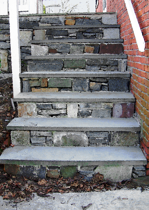 Stairs Photograph - Stairs To The Plague House by RC DeWinter