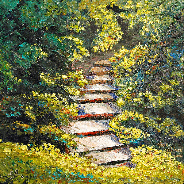 Landscape Painting - Stairway To Heaven by Cathy Fuchs-Holman