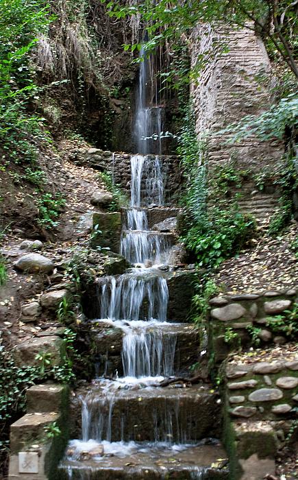 Granada Photograph - Stairway Waterfall by Lorraine Devon Wilke