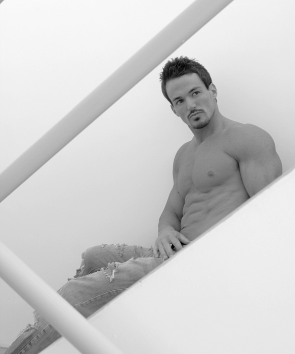 Male Photograph - Stairwell by Dan Nelson