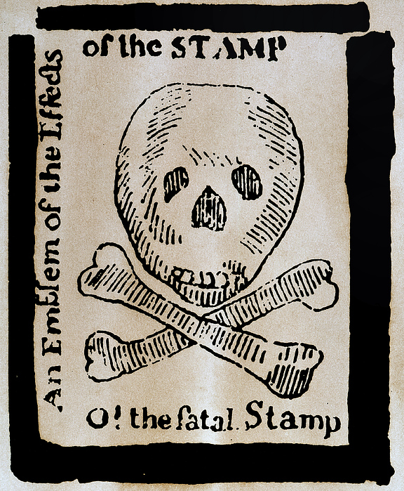 1765 Photograph - Stamp Act: Cartoon, 1765 by Granger