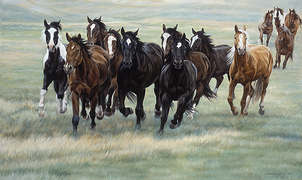Michelle Grant Painting - Stampede by JQ Licensing
