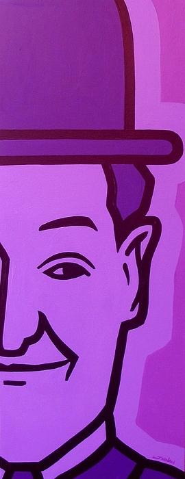 Oliver Hardy Painting - Stan Laurel by John  Nolan