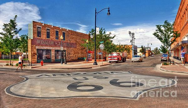 Route 66 Photograph - Standin On The Corner Route 66 by John Kelly