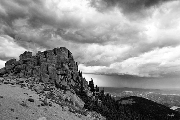Mountain Photograph - Standing Against The Storm by Scott Pellegrin