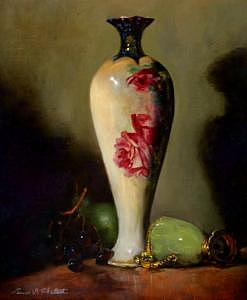 Vintage Vase Painting - Standing Tall by Louise B Hafesh