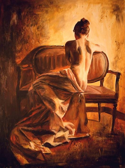 Nude Painting - Stanotte by Escha Van den bogerd