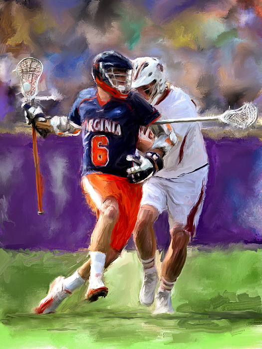 Lacrosse Painting - Stanwick Lacrosse by Scott Melby