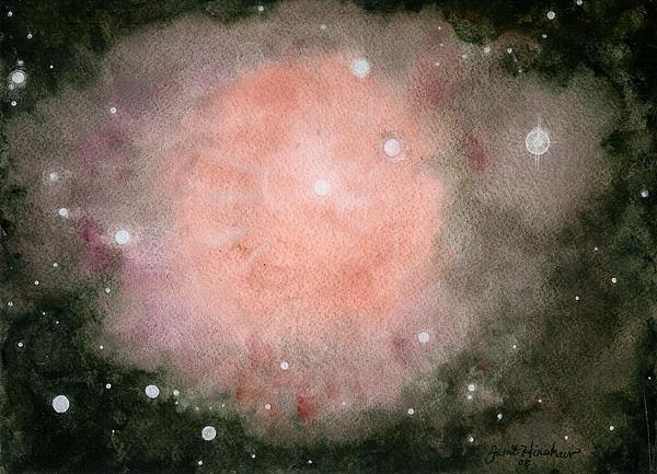 Atmospheric Painting - Star Burst by Janet Hinshaw