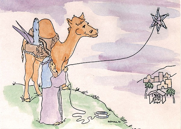 Star Of Bethlehem Greeting Card - Star Of Bethlehem by Cathy Weaver