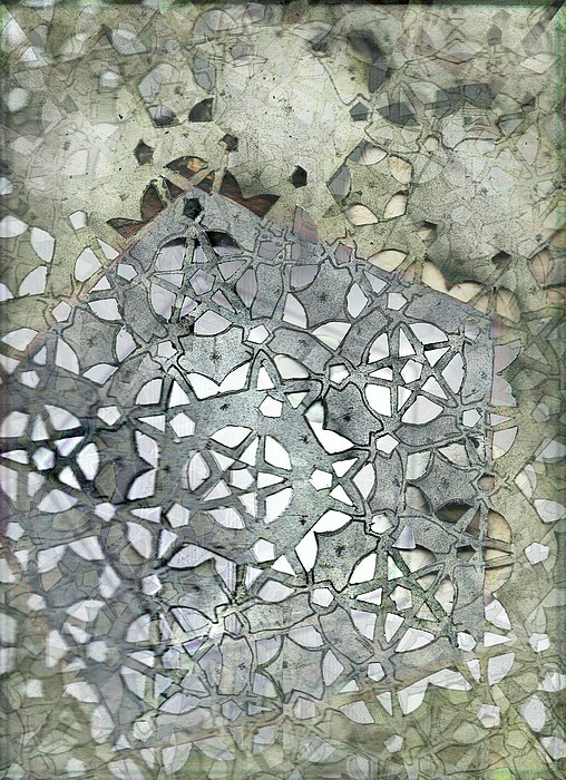 Aperiodic Tiling Painting - Star Of Stone by Jeremy Robinson