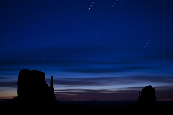 Star Photograph - Star Trails Over The West by Andrew Soundarajan