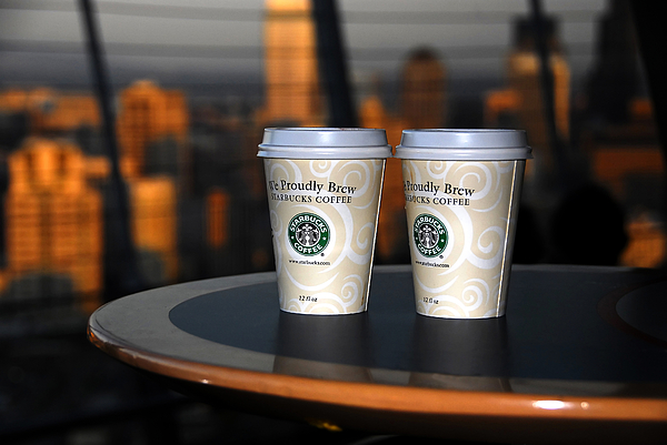 Coffee Photograph - Starbucks At The Top by David Lee Thompson