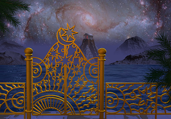 Stargate-temple-galaxy Digital Art by Terry Anderson