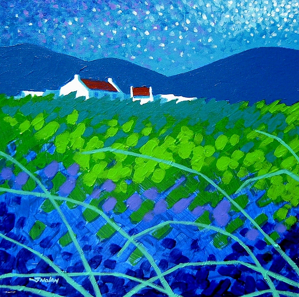 Acrylic Painting - Starry Night In Wicklow by John  Nolan