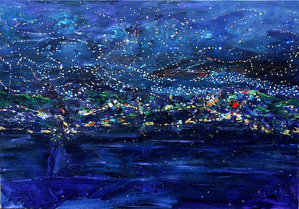 Landscape Painting - Starry Starry Night by Vukovic  Davor
