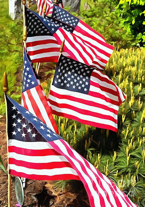 American Flag Photograph - Stars And Stripes by Janine Riley