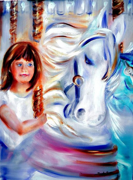 Carousel Painting - Stars In Their Eyes by Sandy Ryan