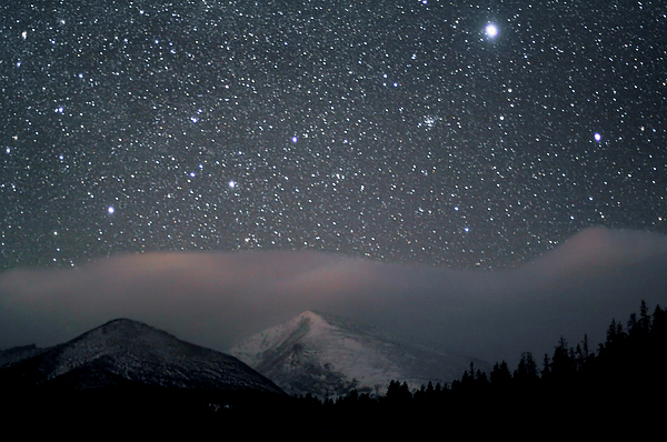 Horizontal Photograph - Stars Over Rocky Mountain National Park by Pat Gaines