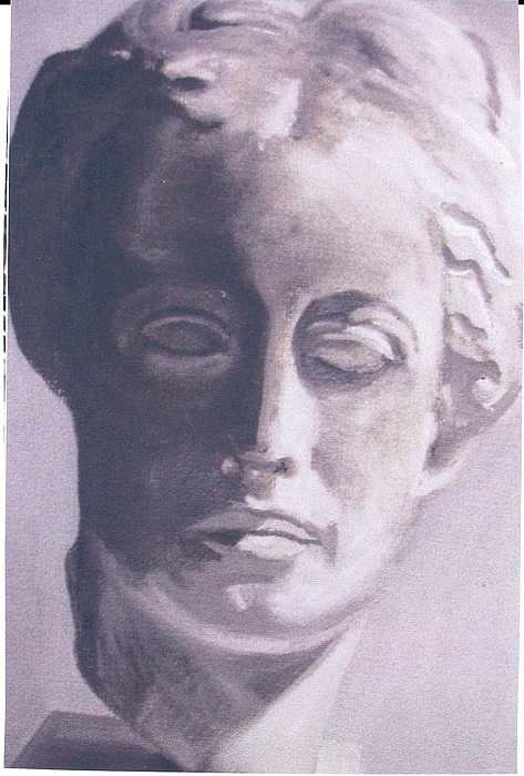 Statue Painting - Statue Young Boy by Deena Greenberg