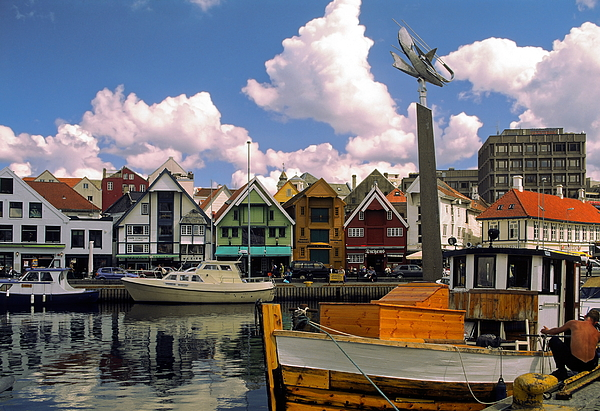 Harbor Photograph - Stavanger Harbor by Sally Weigand