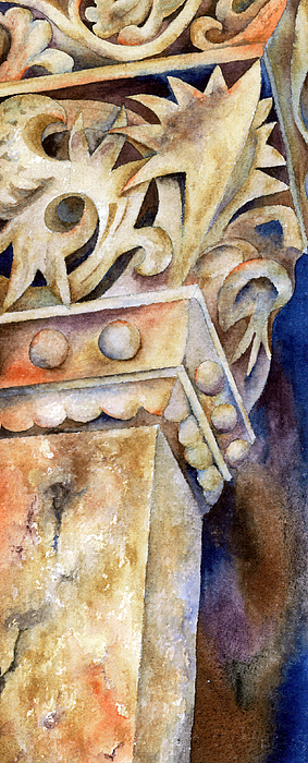 Columns Painting - Steadfast by Winona Steunenberg