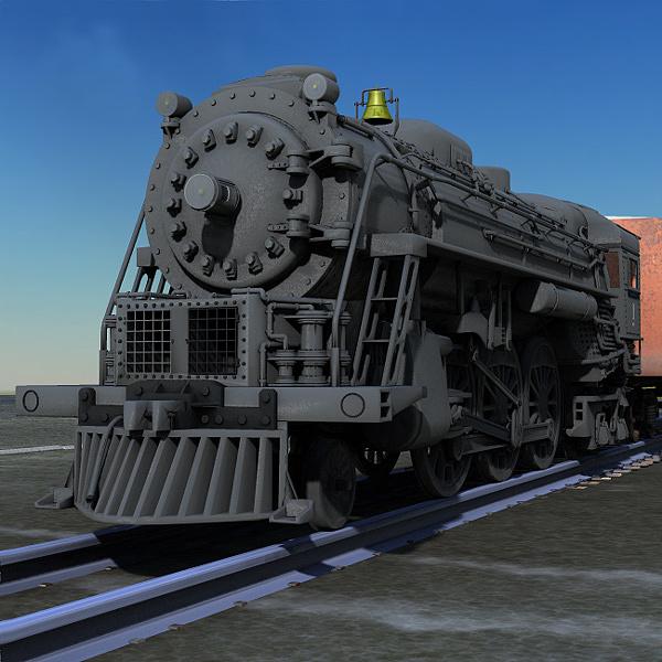 Digital Digital Art - Steam Locomotive At Rest by John Hoagland