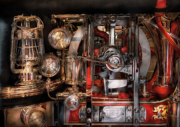 Hdr Photograph - Steampunk - Check The Gauges  by Mike Savad