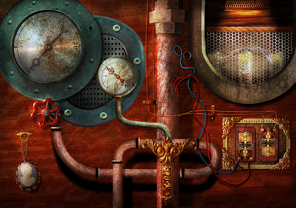 Suburbanscenes Photograph - Steampunk - Controls by Mike Savad
