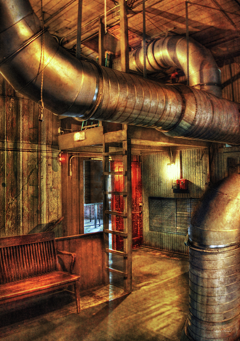 Vent Photograph - Steampunk - Where The Pipes Go by Mike Savad