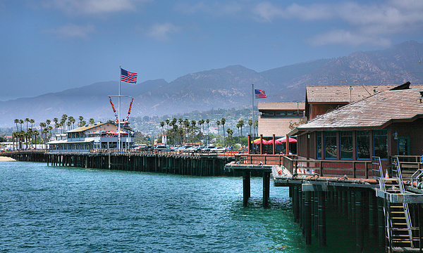 Dock Photograph - Stearns Wharf IIi by Steven Ainsworth
