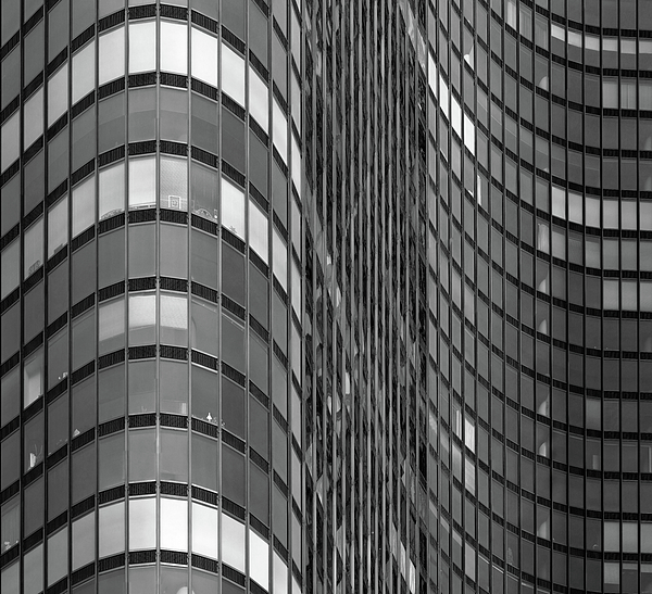 Horizontal Photograph - Steel And Glass Curtain Wall by Photo by John Crouch