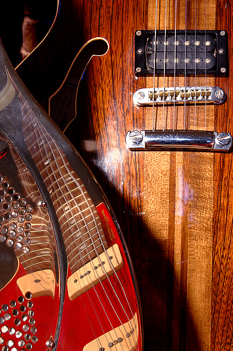 Guitar Photograph - Steel And Wood 1 by Art Ferrier