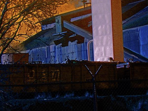 Abstract Digital Art - Steel City Cfi 4 by Lenore Senior