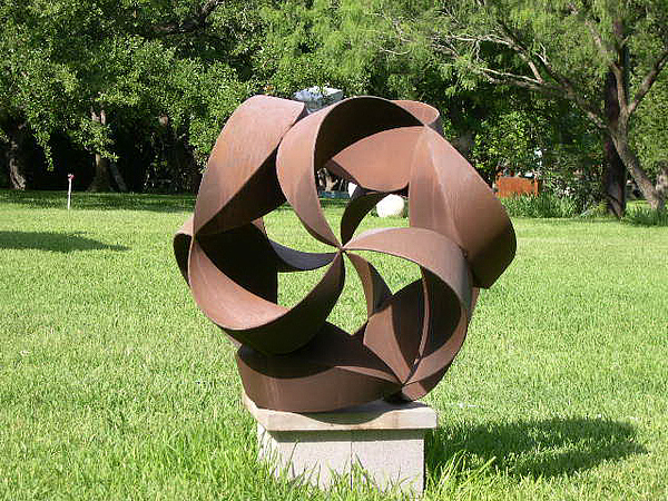 Geometry Sculpture - Steel Spiral by Y Domenge