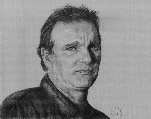 Portrait Drawing - Stephen by Monika Degan