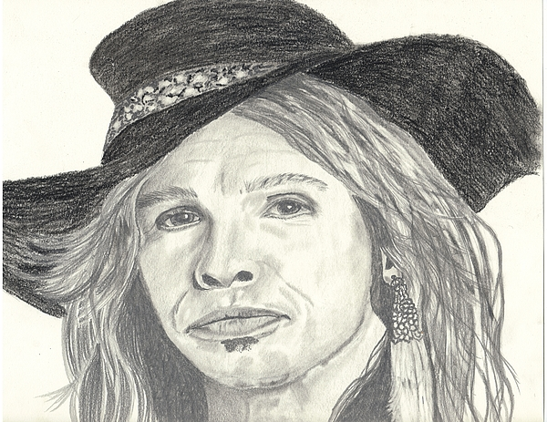 Stephen Drawing - Stephen Tyler by DebiJeen Pencils