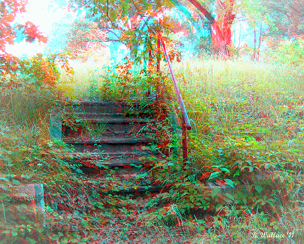 3d Photograph - Steps To Yesterday - Use Red-cyan 3d Glasses by Brian Wallace