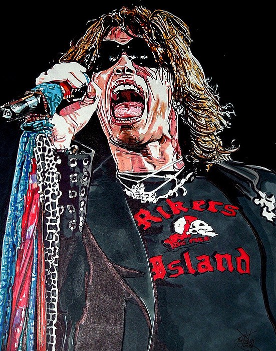 Aerosmith Drawing - Steven Tyler by Neal Portnoy
