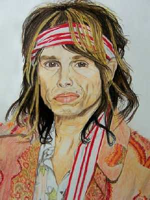Steven Tyler Drawing - Steven Tyler by Sherri Ward