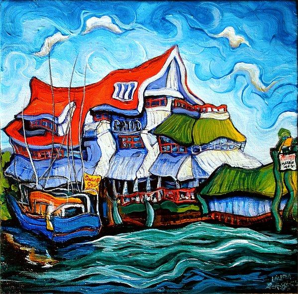 Steveston Painting by Laura Zerebeski