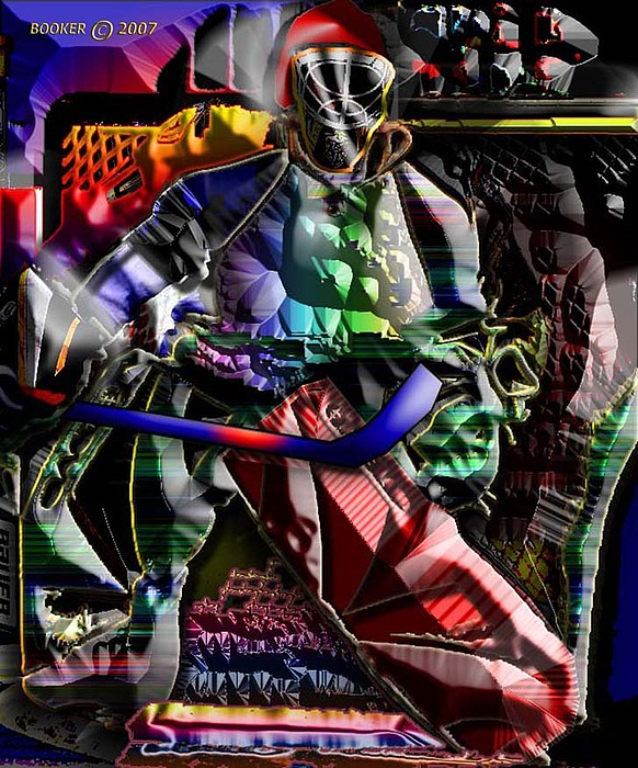 Popart Mixed Media - Stickmeister by Booker Williams