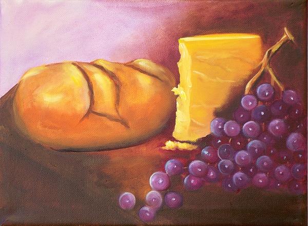 Bread Painting - Still Life 1 by Joni McPherson