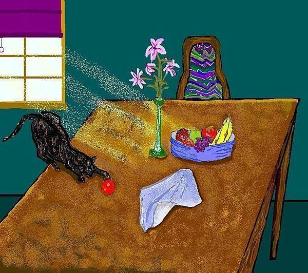 Cats Digital Art - Still Life by Carole Boyd