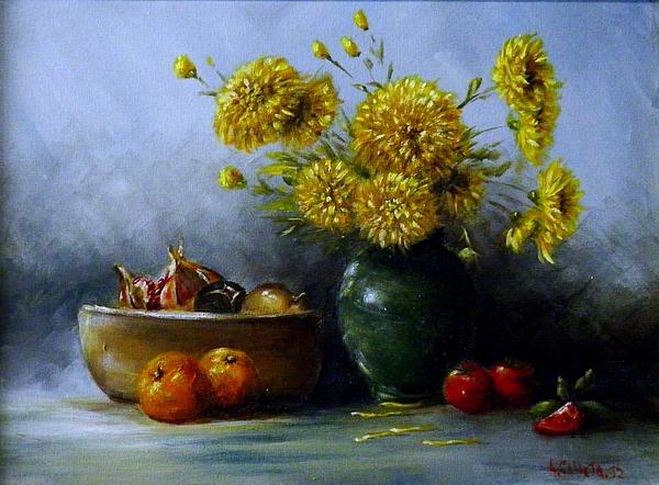 Still Life Painting - Still Life by Tony Calleja