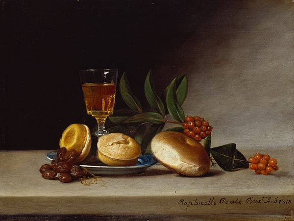 Still Painting - Still Life With A Wine Glass by Raphaelle Peale