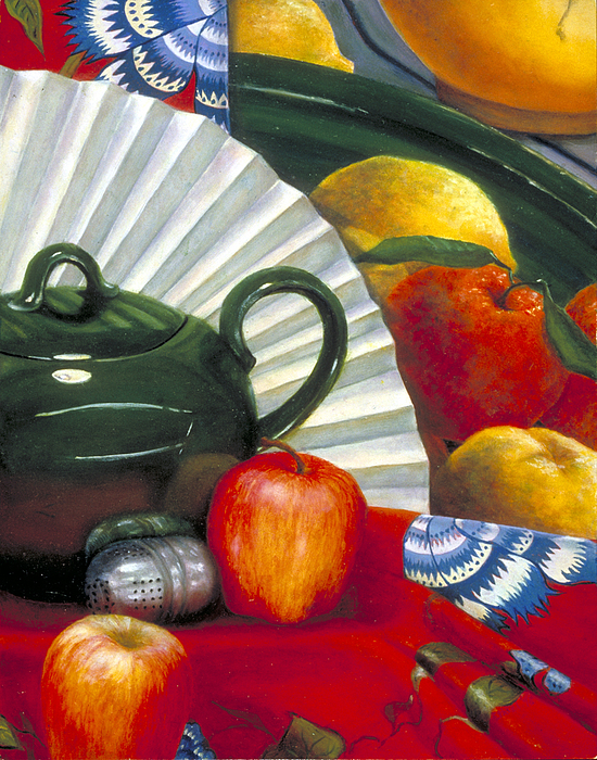 Oil Painting Painting - Still Life With Citrus Still Life by Nancy  Ethiel