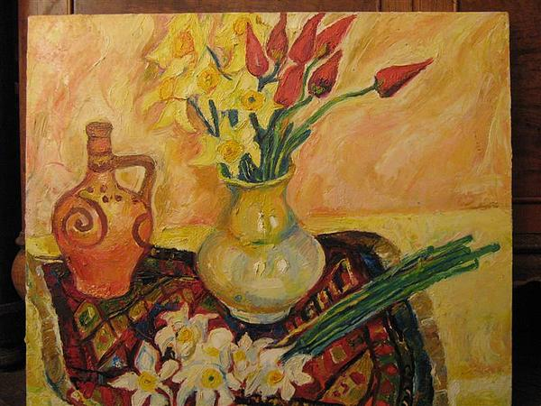 Still Life Painting - Still Life With Flowers by Natalia Slovinskaya