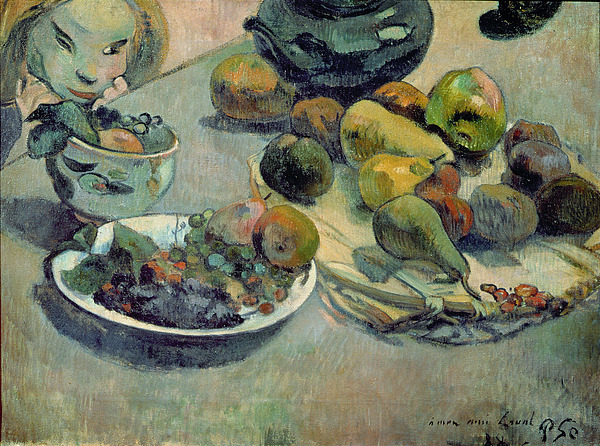 Still Life With Fruit Painting - Still Life With Fruit by Paul Gauguin