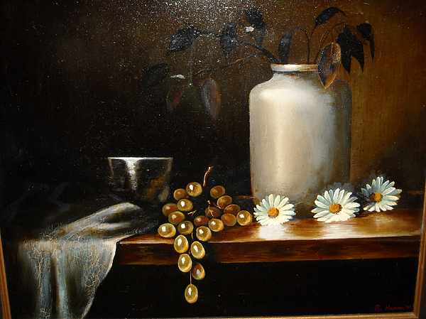 Still Life With Metal Cup Painting by R Zulienn
